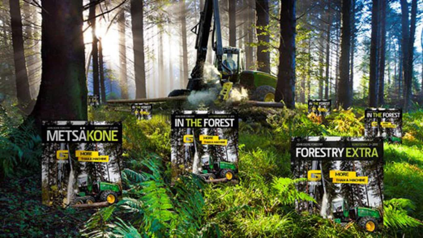 John Deere Forestry kunden magasin In The Forest