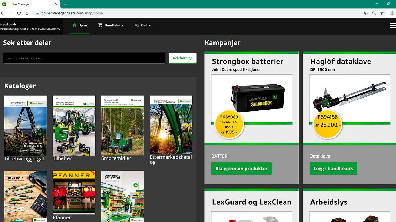 TimberManager online shop
